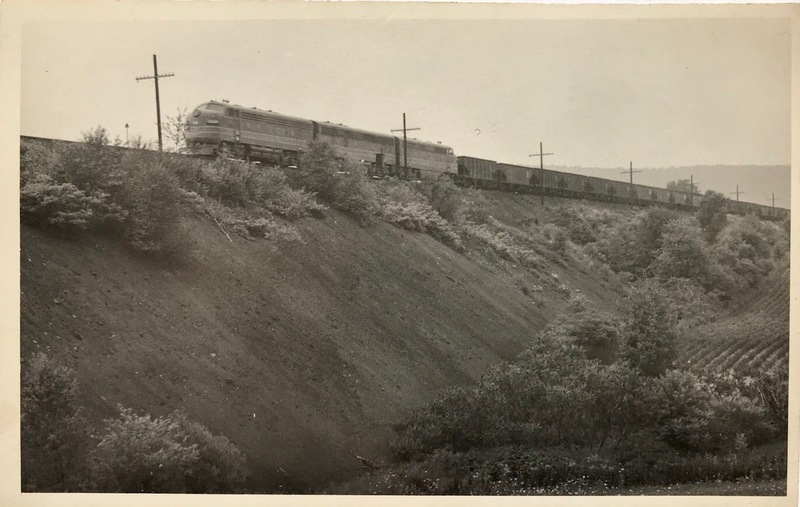 Diesel Train Crossing Filled in Ringtown Viaduct
